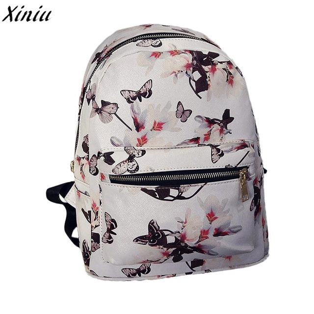Mode Unisexe Sacs À Dos Filles Impression Drawstring Backpack Floral Noir JOihc