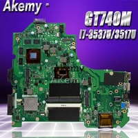 Akemy K56CB Laptop motherboard for ASUS K56CB K56CM K56C K56 S550CM S550C Test original mainboard I7 3537U/3517U GT740M