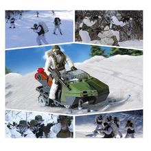 hot LegoINGlys military ww2 Soviet army Snowmobile war Building Blocks mini soldier figures model bricks toys for children gift