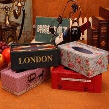 Европейский Железный держатель, коробка для салфеток, домашний стол, украшение, квадратный лист для салфеток, бумажная коробка для хранения, автоматическое бумажное полотенце