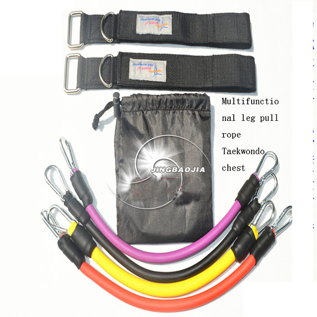 Mix 120 pounds Multifunctional leg pull rope Taekwondo latex elastic ...
