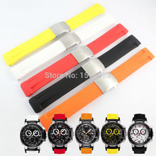 T-RRCE Expert Black Silicone rubber Strap T048 Watch band for T048417A 21mm все цены