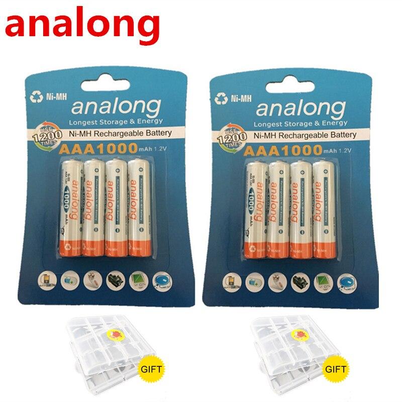 Original 8Pcs Pilhas AAA NI-MH 1000mAh Bateria Baixa Auto-Descarga Recarregável aaa 3A Bateria bateria Para Remoto controlador