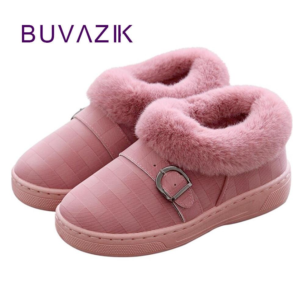 De Caliente Zapatos Tamaño Gran Nieve Invierno Marrón rojo gris Mantener Mujer Botas rosado 2018 Impermeable Tacón dqwTFnzxd