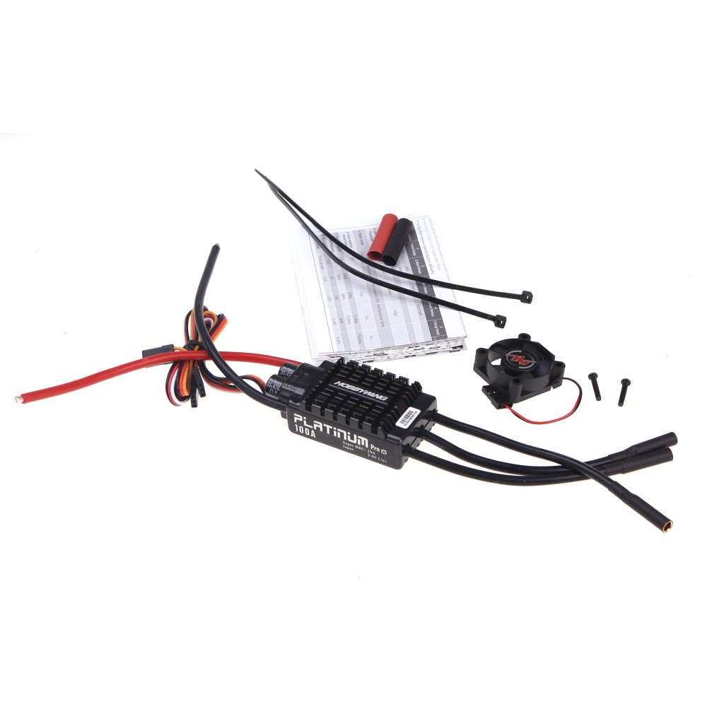 1PCS Original Hobbywing Platinum 100A V3 High Performance ESC for Align TREX 550 600 700 RC Helicopter Fixed Wing ESC 1pcs original hobbywing platinum 100a v3 rc model brushless esc for multicopter for align trex 550 600 700 rc helicopter fixed w