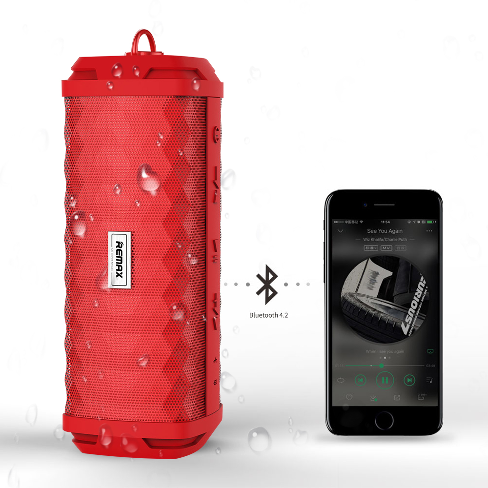 REMAX Metal Mini Bluetooth Speaker Portable Wireless Speaker IPX7 Waterproof Home Theater Party Speaker Outdoor Loudspeaker wireless bluetooth speaker cute mushroom waterproof sucker mini bluetooth speaker audio outdoor portable bracket for xiaomi ipad