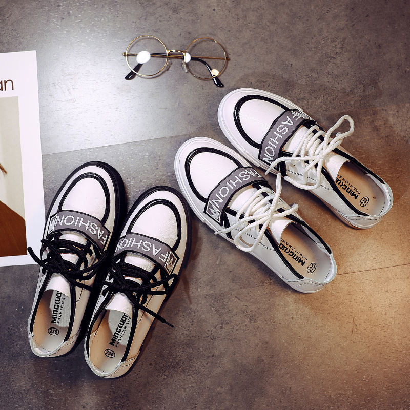 Brand luxury fashion woman shoes 2018 new white street beat wild women's canvas flat shoes
