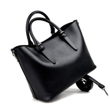 Large Capacity Pu Leather Handbags Women Bags Pu Leather Shoulder Bag Casual Tote Bags Female Famous Brands Luxury Shoulder Bag