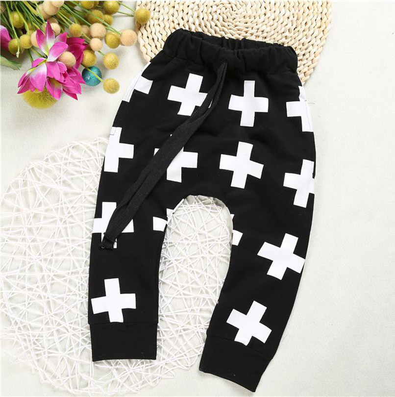 2018 Nouveau bébé pantalon pour garçons croix étoiles pantalon, shalwar kameez pantalon pour filles garçons pantalon enfants kikikids vêtements YAZ018