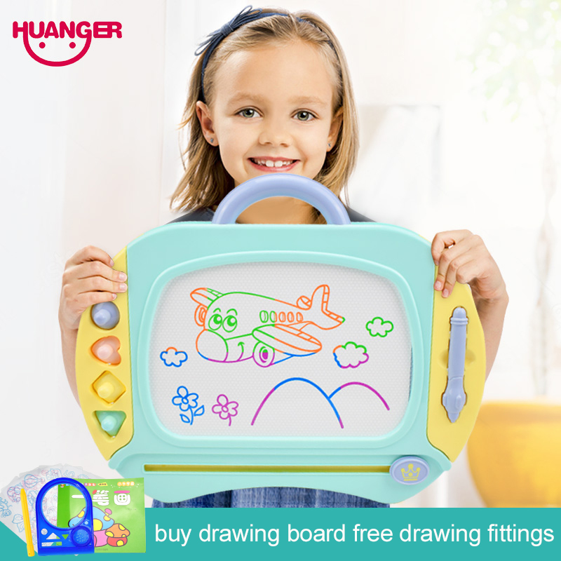 39*30/33*24 Magnetic Drawing Board Craft Kids Painting Toys Child Preschool Educational&Learning Color Doodle Spirograph Gift