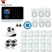 Yobangsecurity Беспроводной Wi-Fi GSM охранная Охранной Сигнализации Системы DIY Автодозвон комплект для дома Бизнес дом квартира