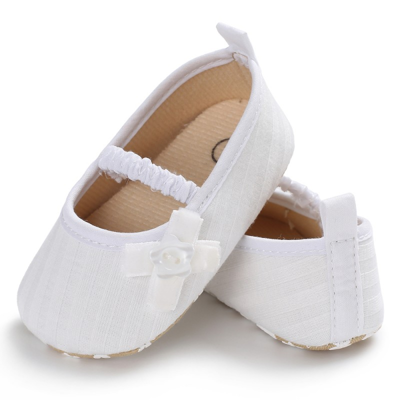 Knit Bow Tight Baby Girl Shoes Non-slip Breathable Toddler Shoes Children First Walkers Elastic Band Shoes