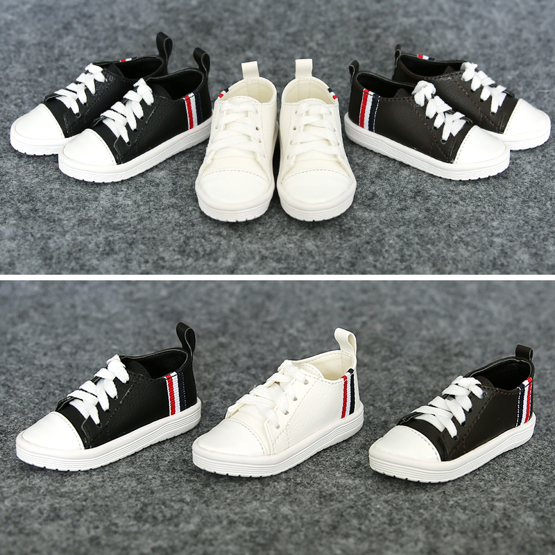 1Pair New Doll Accessories Casual Shoes For BJD Doll 1/3 1/4 1pair 1 3 1 4 bjd doll shoes black casual shoes for bjd doll