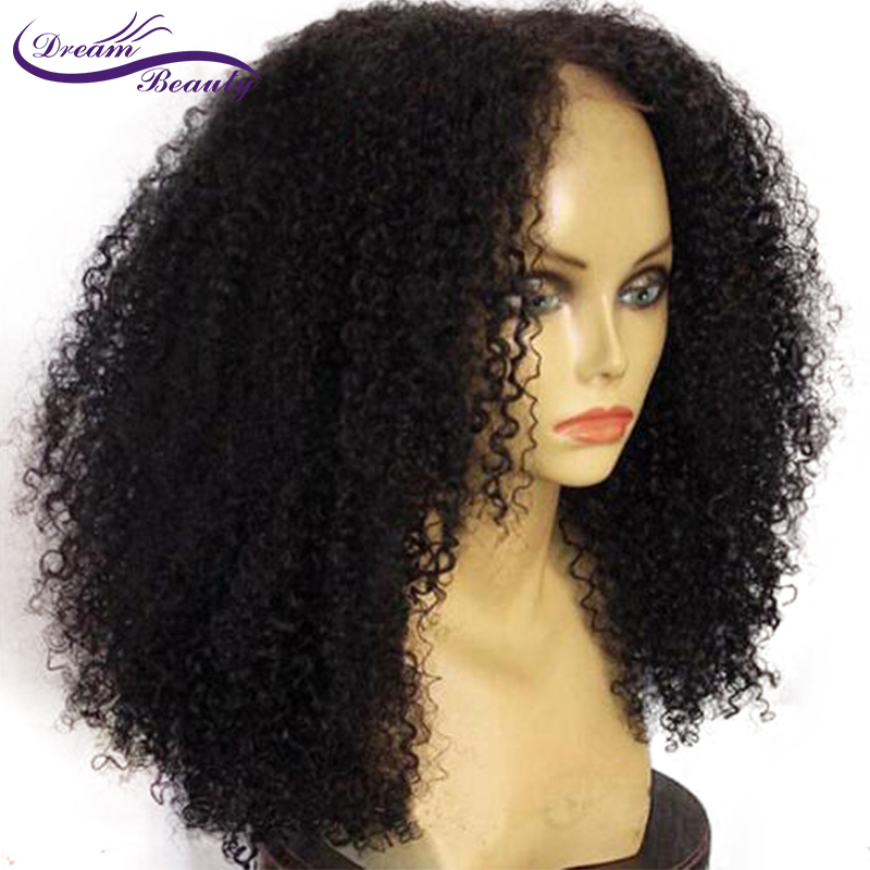 Lace Front Human Hair Wigs Pre-Plucked 150% Density Brazilian remy Curly Wig With Baby Hair Bleached Knots Dream Beauty
