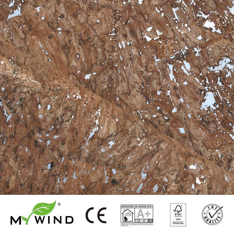 2019 mon vent brun clair avec argent fonds d'écran luxe 100% matériau naturel innocuité 3d papier peint en rouleau décor à la maison