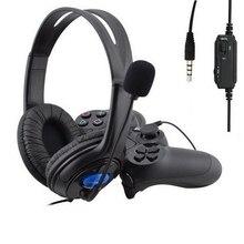 3.5mm Wired Headphone Game Gaming Headphones Headset With Microphone Mic Earphone