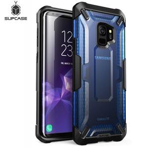 Image 2 - Pour Samsung Galaxy S9 étui support licorne Beetle série Premium hybride pochette de protection en polyuréthane thermoplastique + PC étui de protection transparent couverture arrière pour S9