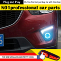 AKD One-Stop Shopping Anjo luz de Nevoeiro Olho para CX-5 LEVOU Daytime Running Luz de Nevoeiro Luz DRL 2014 CX5 Car Styling Accessoires