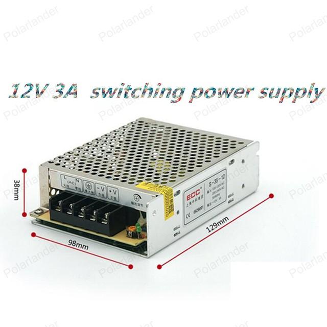 12 V 3A 36 W 110 V-220 V Iluminación Transformadores de alta calidad safy Conductor para la tira del LED suministro