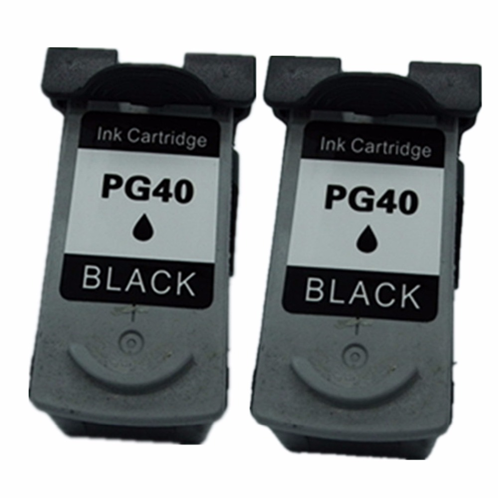 2 Black Ink Cartridges Cartridge For Canon PG 40 PG 40 PG40 Pixma MP180 MP218 MP228