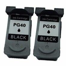 2 черный картриджи картридж для canon PG-40 PG 40 PG40 PIXMA MP180 MP218 MP228 MP450 MP460 MP476 MX308 MX318 струйный принтер