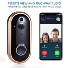 Smart WIFI Doorbell Intercom 1080P Video Ring Door Bell With Camera IR Entry Door Alert Wireless Security Door Call Video Eyes homsecur 9inch wired video door entry security intercom electric lock keys included