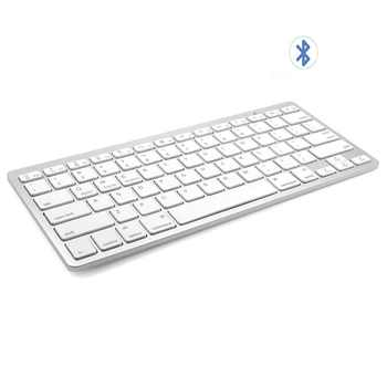 Russian Spanish French German Hebrew Brazil-Portuguese Ultra Slim Universal Wireless Bluetooth Keyboard for iOS Android Win - Category 🛒 Computer & Office