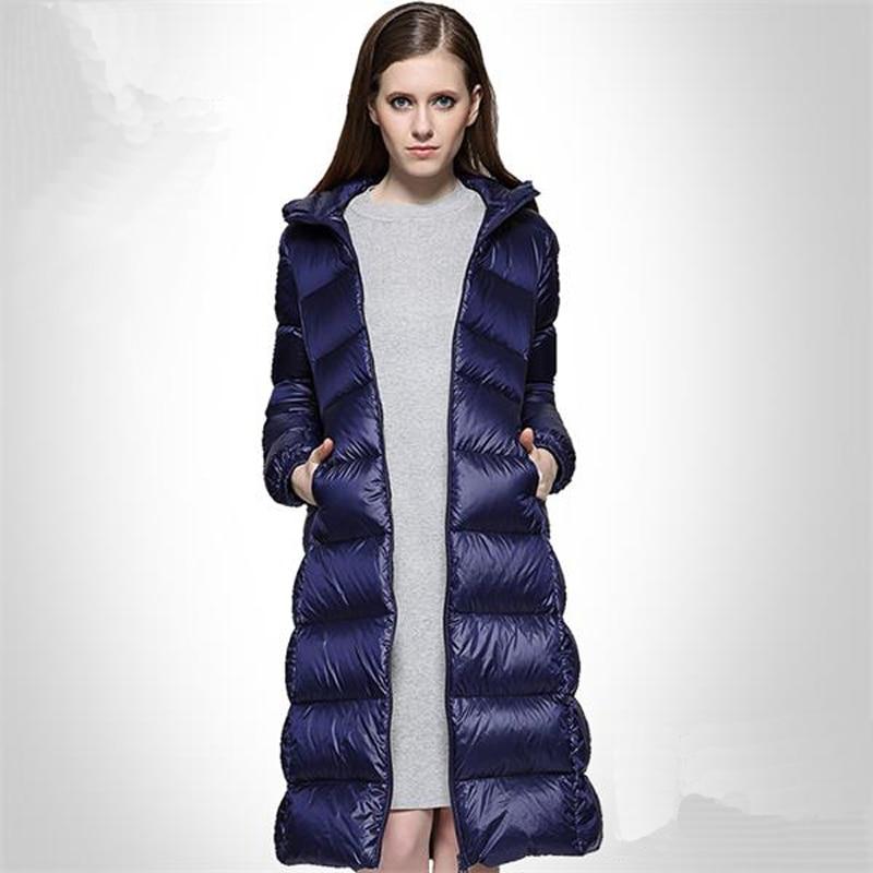 Autumn to Winter Warm Duck Down Winter Jacket Women Down Coat Down Parka 3 Colors European Style Coats Down Jacket Plus Size