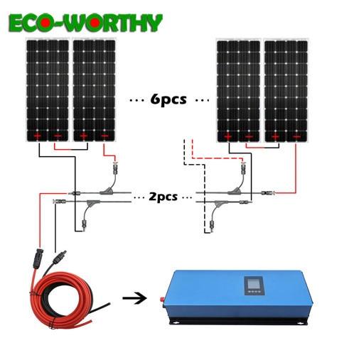 1000W soalr power panels system 1000W Monocrystalline solar panels with 1000w 22 65V inverter charge 12V