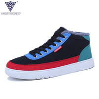 WEST SCARP Canvas Shoes Men Casual Shoes Winter Warm Casual Men Sneakers High Quality Spring Autumn