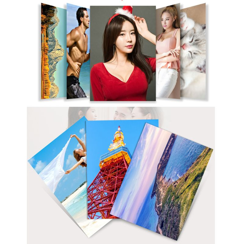 100 Sheets Photographic Paper Glossy Printing Paper 230g 4R 4x6 Photo Paper For Inkjet Printer Paper Supplies Color Printing