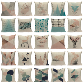Nordic Pop Geometric Pillowcase Bedroom Departments Living Room Pillowcases Rooms