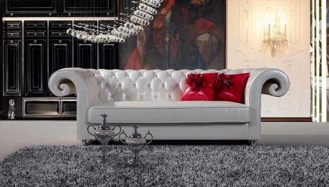 2015 Chesterfield Leather Sofa Design#