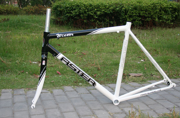Aster Road Bike FRAME <font><b>Alloy</b></font> <font><b>700C</b></font> Road Frame and carbon <font><b>Fork</b></font> <font><b>700C</b></font>* 56cm Black / white clear stock price image
