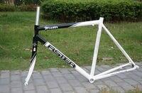 Aster Road Bike Alloy Frame Carbon Fork 700C 56cm Black White