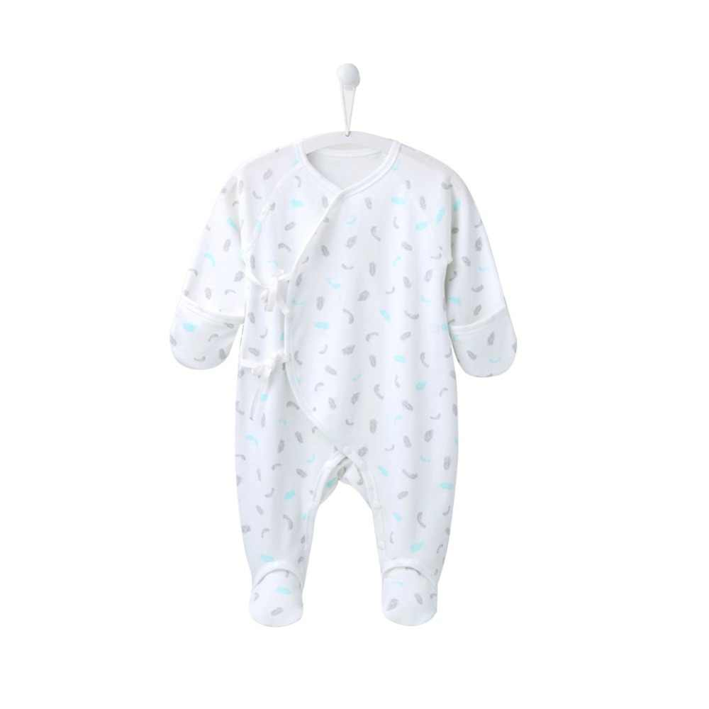 ทารกแรกเกิดfootiesทารก0 6เดือนทารกเด็กสาวJ UmpsuitรูปแบบขนนกFootiesทารกถุงเท้าเสื้อผ้าเด็กสำหรับทารกแรกเกิดNY150051