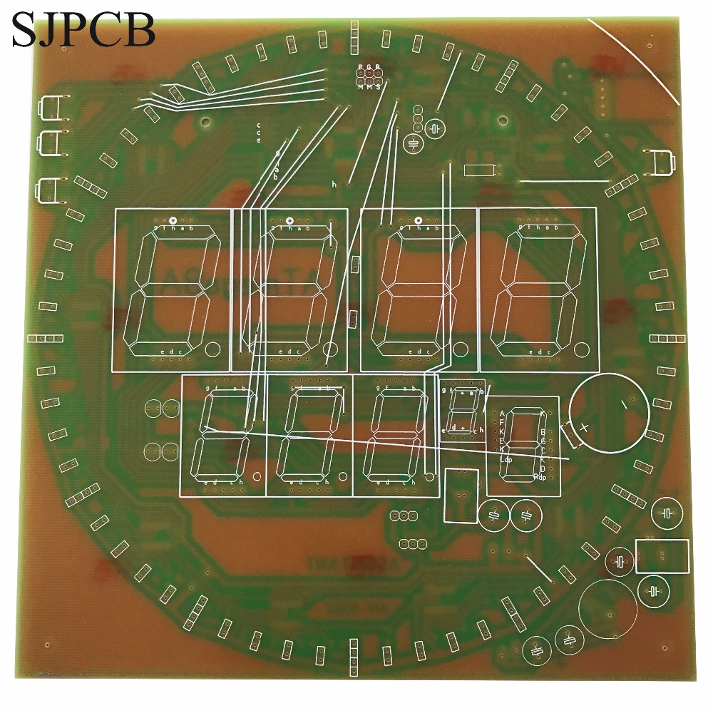 Sjpcb Led Lighting Single Sided Printed Circuit Board With Low Cost 6 Layer Blue Solder Mask One Plata In Pcb From Electronic Components Supplies On