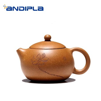 180ml Yixing Purple Clay Teapot Lotus Pattern Xishi Pot Zi Sha Tea Kettle Home Vintage Drinkware Tea Ceremony Decoration Gifts