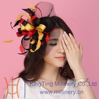 Free Shipping Women Hair Fascinator Hats Hair Accessories Flower Clip Hairdress Flowers Hair Bows With Hairbands