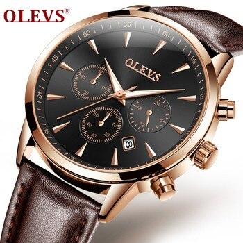 OLEVS relojes hombre 2018 men's watches top brand luxury bayan kol saati waterproof sport watch montre homme uhren herren Clock