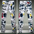 2016 Spring New Men's Fashion Colorful Print Brand Designer Casual Skinny Straight Jeans Pant, Cool Night Club Jeans