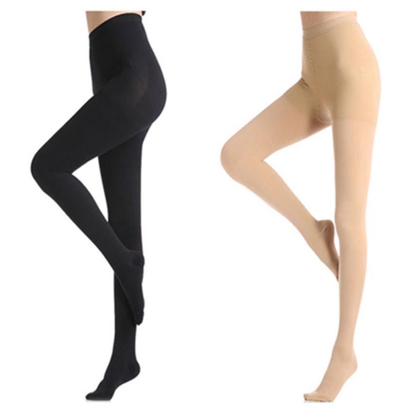 Medical Compression Panty Hose Compression Stockings Varicose Veins 30-40mmHg Elastic Nursing Socks Third Compression Stockings