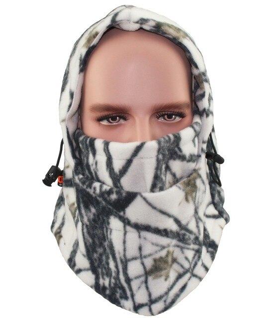 f42291d8632 Winter Hat Men Outdoor Cap Women Cycling Motorcycle Hood Fleece Ski Mask  Balaclava Jungle Camouflage Headgear Beanies
