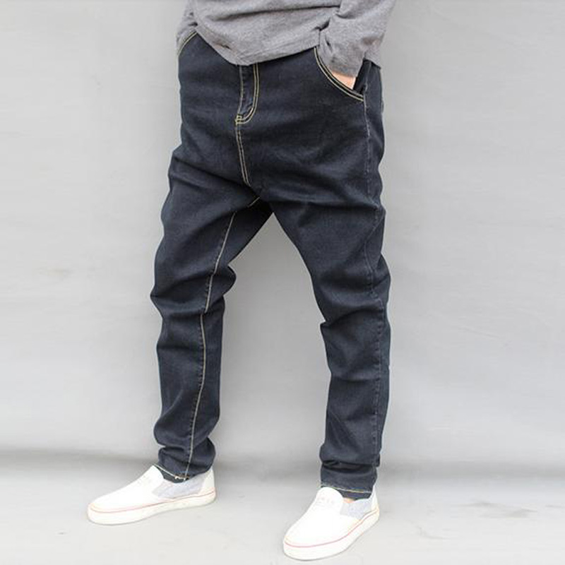 2017 new arrive   autumn and winter male casual denim harem pants  big crotch male plus size plus hanging crotch harem jeans