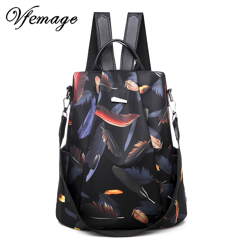 Vfemage New Waterproof Oxford Women Backpacks 2019 Anti Theft Backpack Female Shoulder Bags Fashion Schoolbags For Girls Mochila