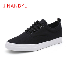 купить New Canvas Shoes Men White Sneakers Casual Flat Lace-up Adult Male Tenis Footwear Retro Classic Round Toe Breathable Black Shoes дешево
