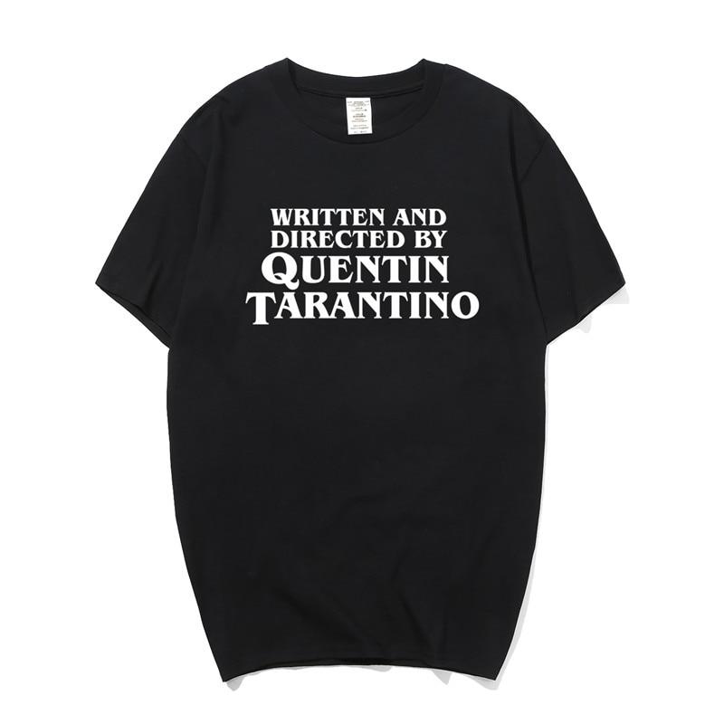 f2dfead83 Written And Directed By Quentin Tarantino T Shirt Summer Men Cotton Short  Sleeve T-shirt