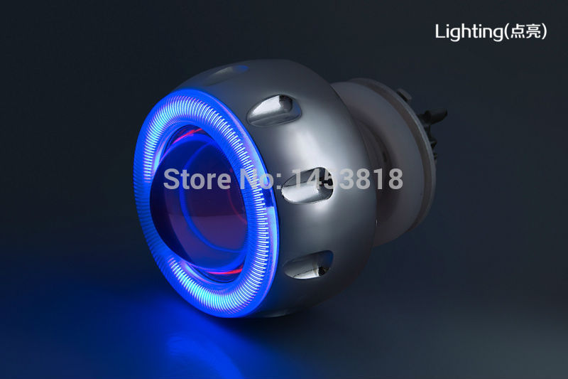 2.0ABC 35w 2 inch Motorcycle Hid Bixenon Projector Lens Headlight Kit 6000k 4300K Blue Green Red Yellow White CCFL Angel Eye 2 5 inch h1 h7 9005 9006 bixenon projector lens for motorcycle auto headlight with ccfl angel eyes bule yellow red white purple