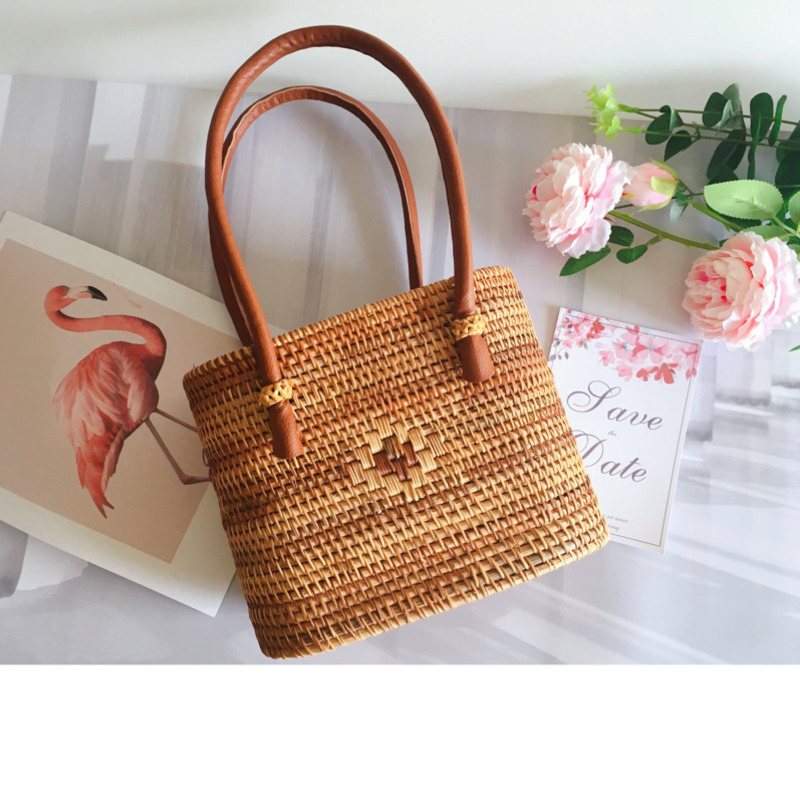 2018 Luxury Handbags Women Bags Designer Famous Brand Ladies Rattan Beach Bag Wicker Straw Bag Summer tote flower Bags For Women 2016 fashion design straw knitting women shoulder bags beach bags women scarf tote handbags for ladies summer tote bags t400