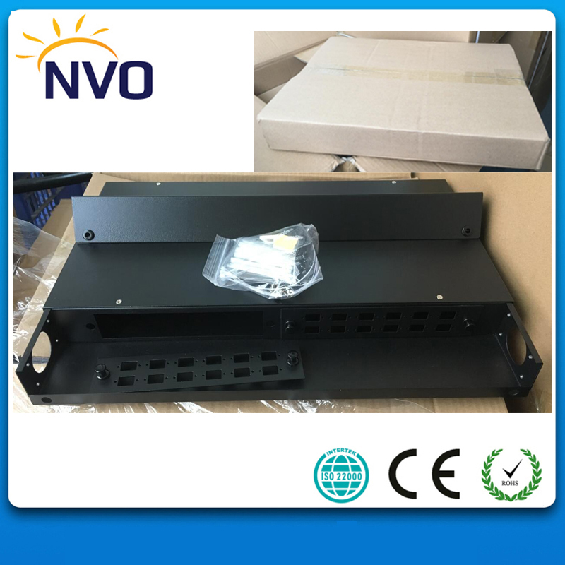 12core 19Inch Rack Mount FixedType cold roll steel Material SC,LC Fiber Optic Distribution Frame/Fiber Terminal Box